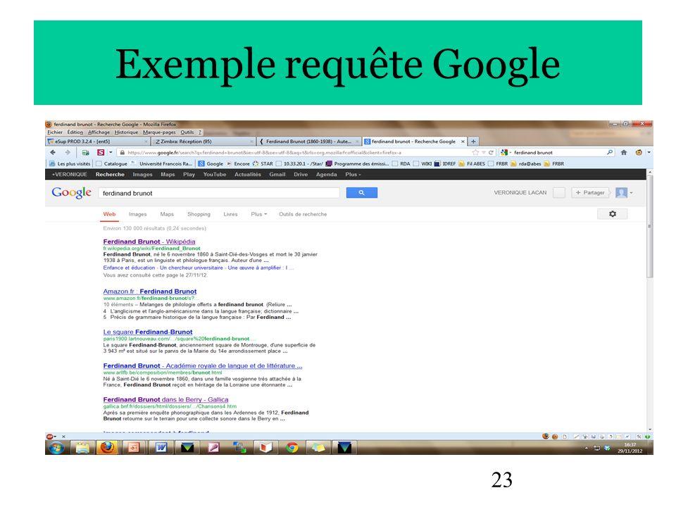 23 Exemple requête Google
