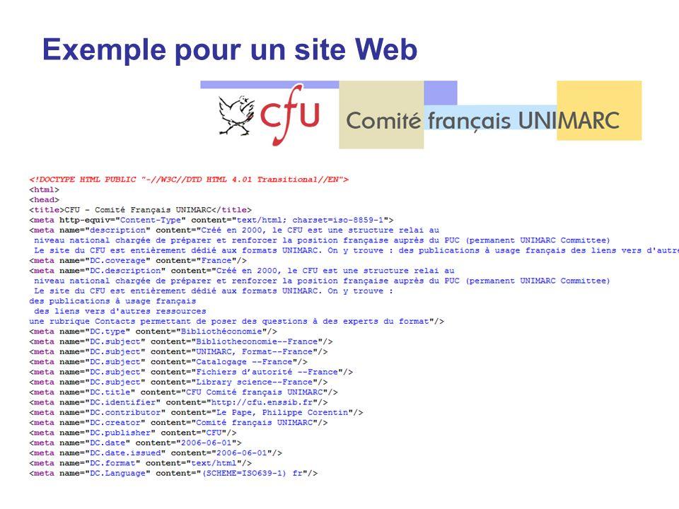 Exemple pour un site Web