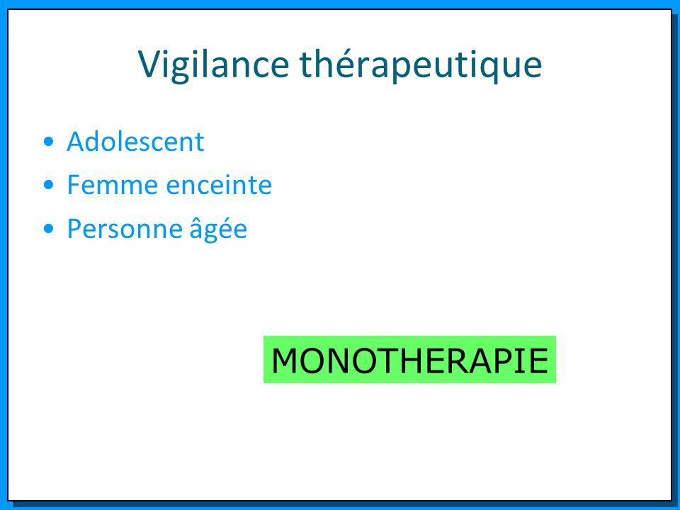 Vigilance thérapeutique Adolescent Femme enceinte Personne âgée MONOTHERAPIE