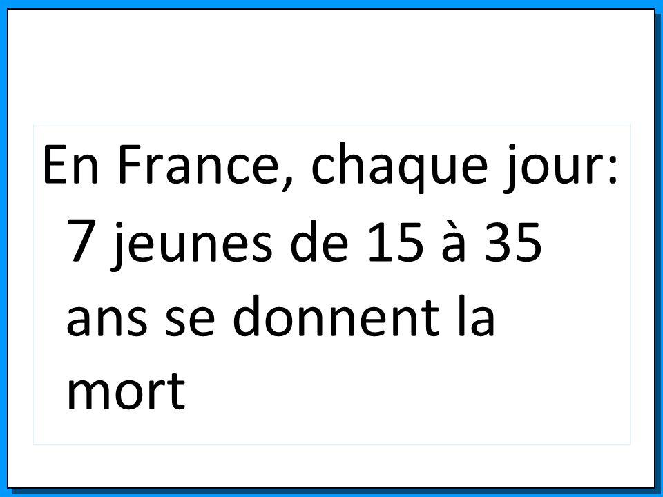 En France, chaque jour: 7 jeunes de 15 à 35 ans se donnent la mort