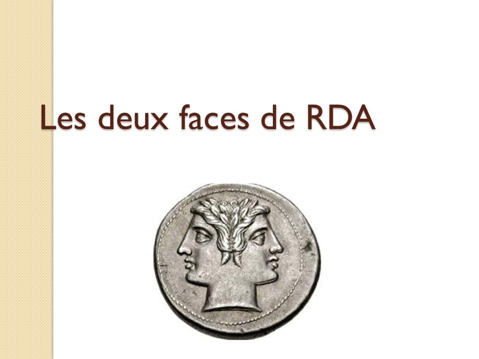 Les deux faces de RDA