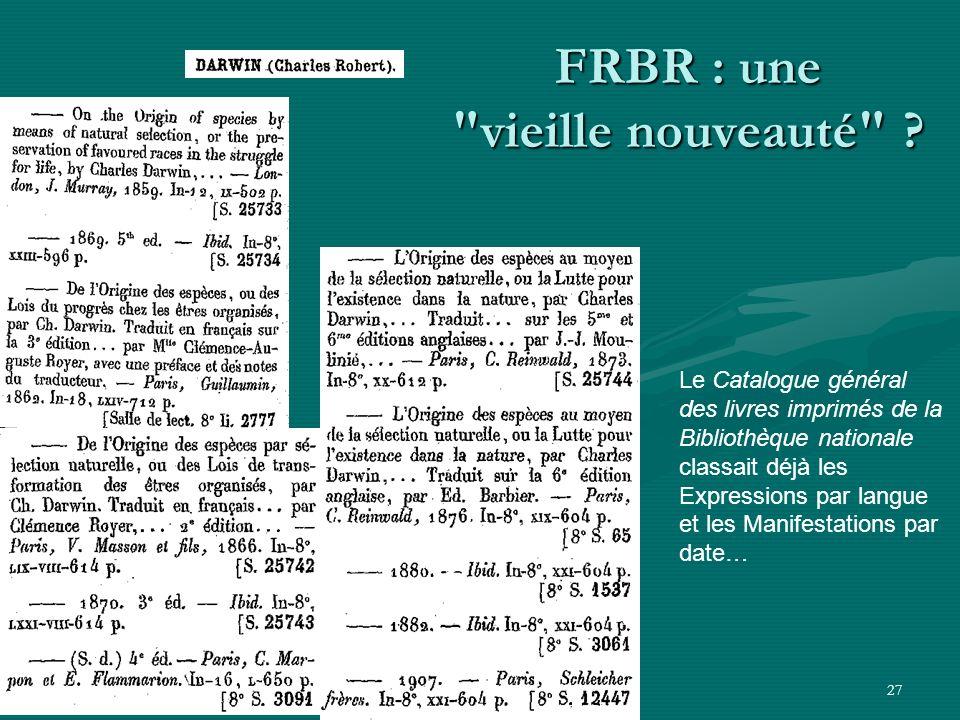 27 FRBR : une
