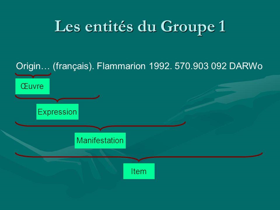 Les entités du Groupe 2 Charles Darwin D.Becquemont E.