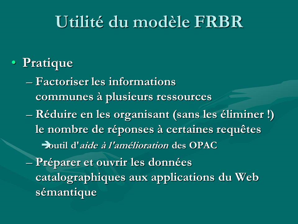 Alors, FRBR : rétrograde ou novateur .