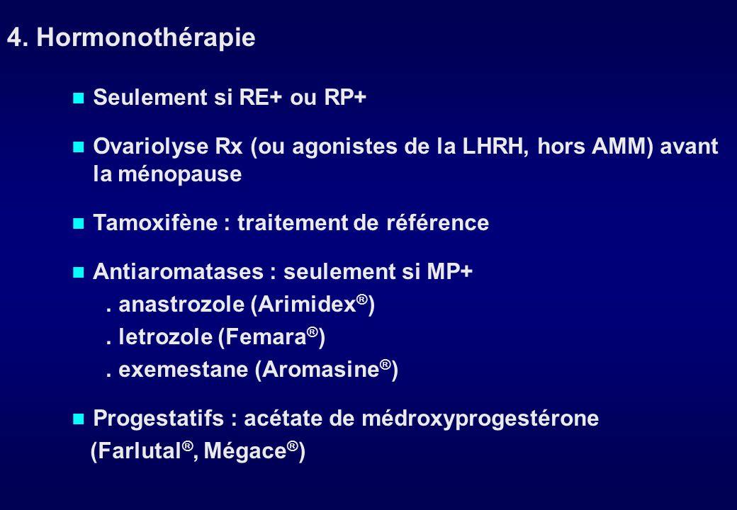 5-Fluorouracile500 mg/m 2 à J1 Epirubicine100 mg/m 2 à J1 Cyclophosphamide500 mg/m 2 à J1 reprise à J22 6 cures = 4,5 mois environ FEC 100