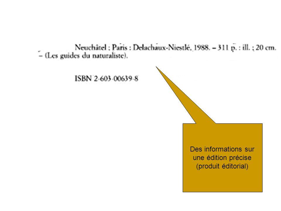 Règles dans le prolongement des AACR –persistance de règles traditionnelles –point de vue anglo-américain prédominant documents internationaux (IFLA, ISO) ignorés Interprétation particulière du modèle FRBR Règles insatisfaisantes (ou insuffisantes) pour certains types de ressources –Ressources audiovisuelles –Ressources continues –Ressources cartographiques –Images fixes Encore rien sur lindexation matière Limites de RDA : Un code trop proche des AACR et encore incomplet