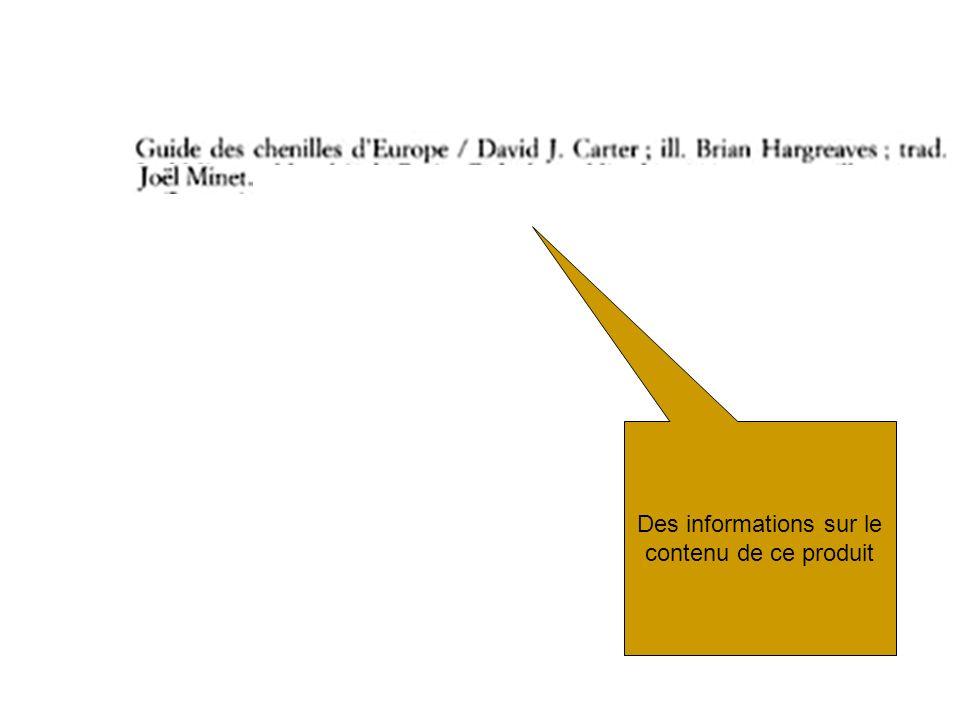 RDA nouvelle pratique du catalogage Les mêmes infos bibliographiques … Mais réparties différemment Catalogage moins centré sur la transcription Récupération de métadonnées existantes métadonnées créées par les éditeurs ou déjà présentes dans les ressources Création de valeur ajoutée - Contrôle, validation / correction des métadonnées récupérées - Données dautorité Faire des liens (au sein du catalogue ou vers dautres ressources externes)
