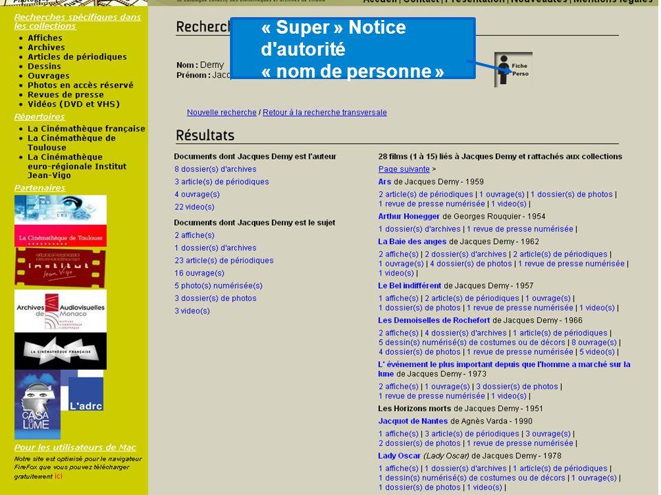 « Super » Notice d'autorité « nom de personne »