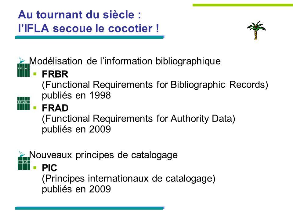 Au tournant du siècle : lIFLA secoue le cocotier ! Modélisation de linformation bibliographique FRBR (Functional Requirements for Bibliographic Record