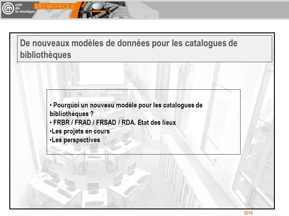 Pourquoi un nouveau modèle pour les catalogues de bibliothèques .