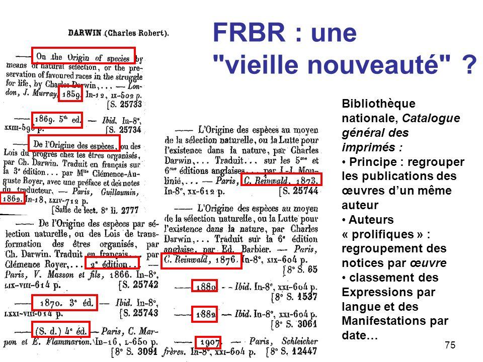 FRBR : une