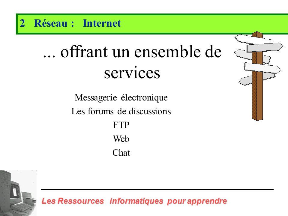 Les Ressources informatiques pour apprendre 2 Réseau : Internet http://edu.univ-lyon1.fr