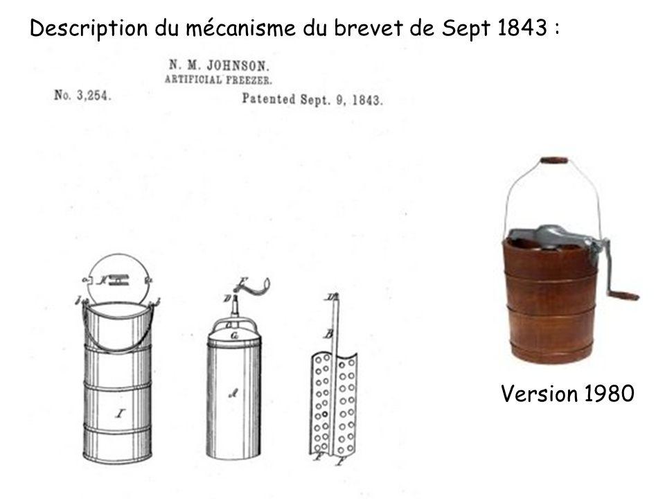 Version 1980 Description du mécanisme du brevet de Sept 1843 :
