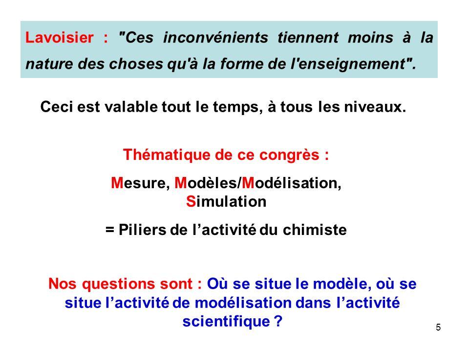 5 Lavoisier : Ces inconvénients tiennent moins à la nature des choses qu à la forme de l enseignement .