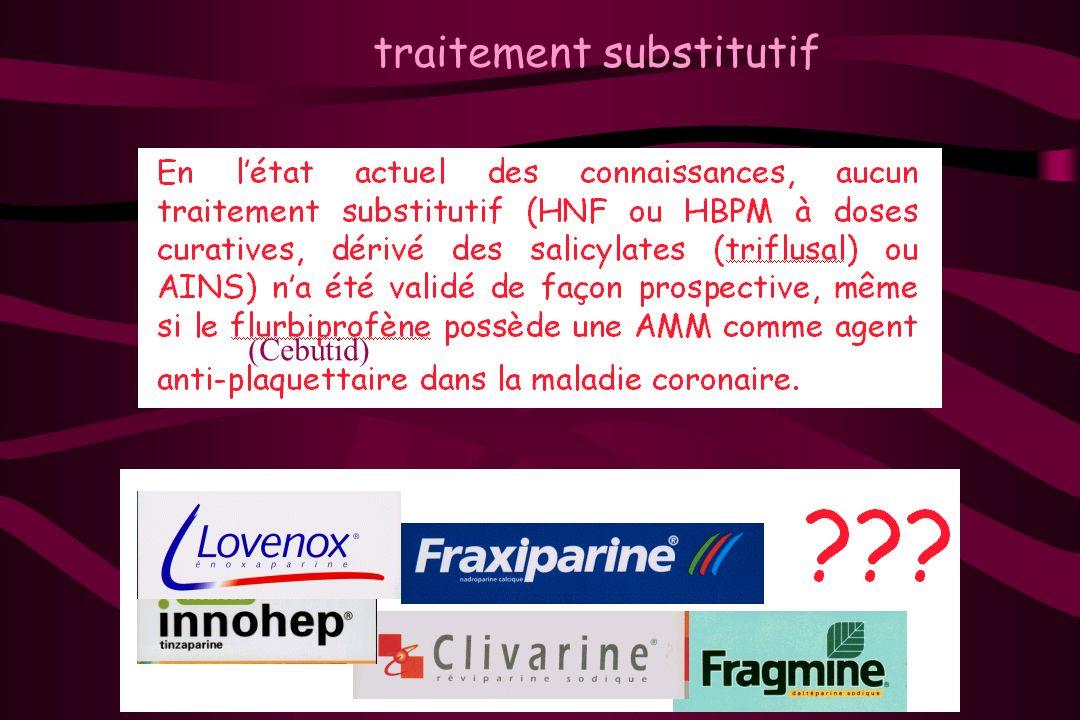 traitement substitutif (Cebutid)