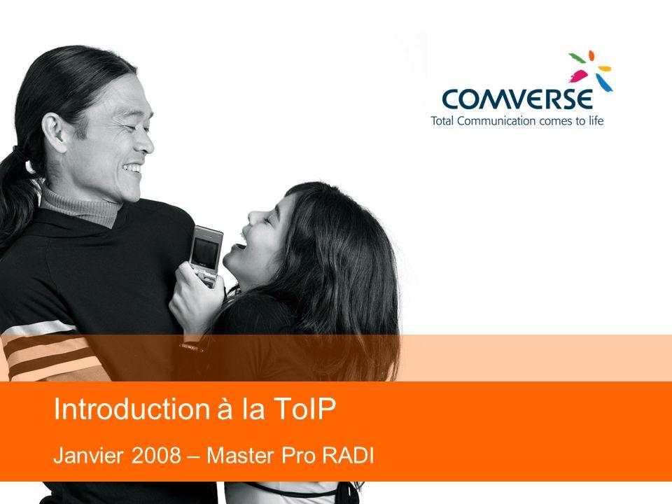2 Agenda ToIP/VoIP Pourquoi sur IP .