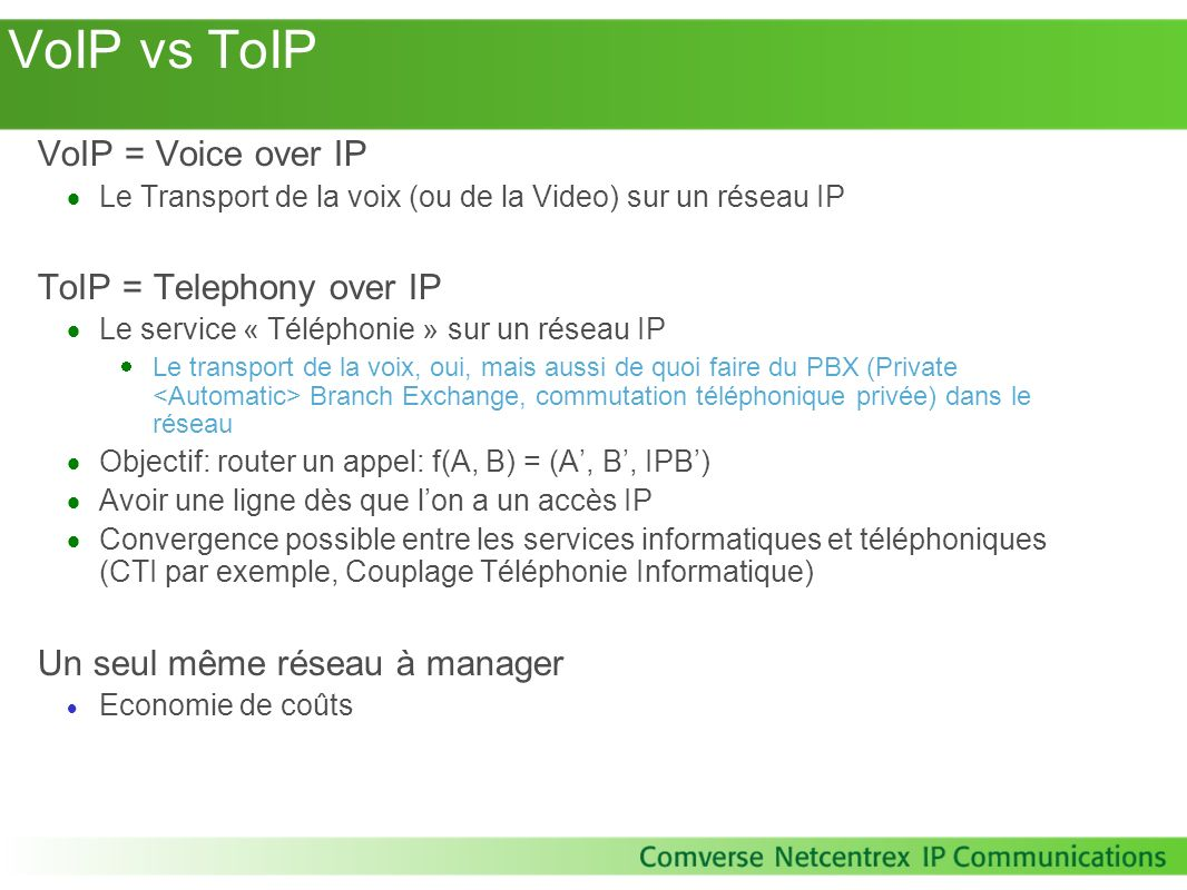 IP Multimedia Subsystem – Pourquoi.