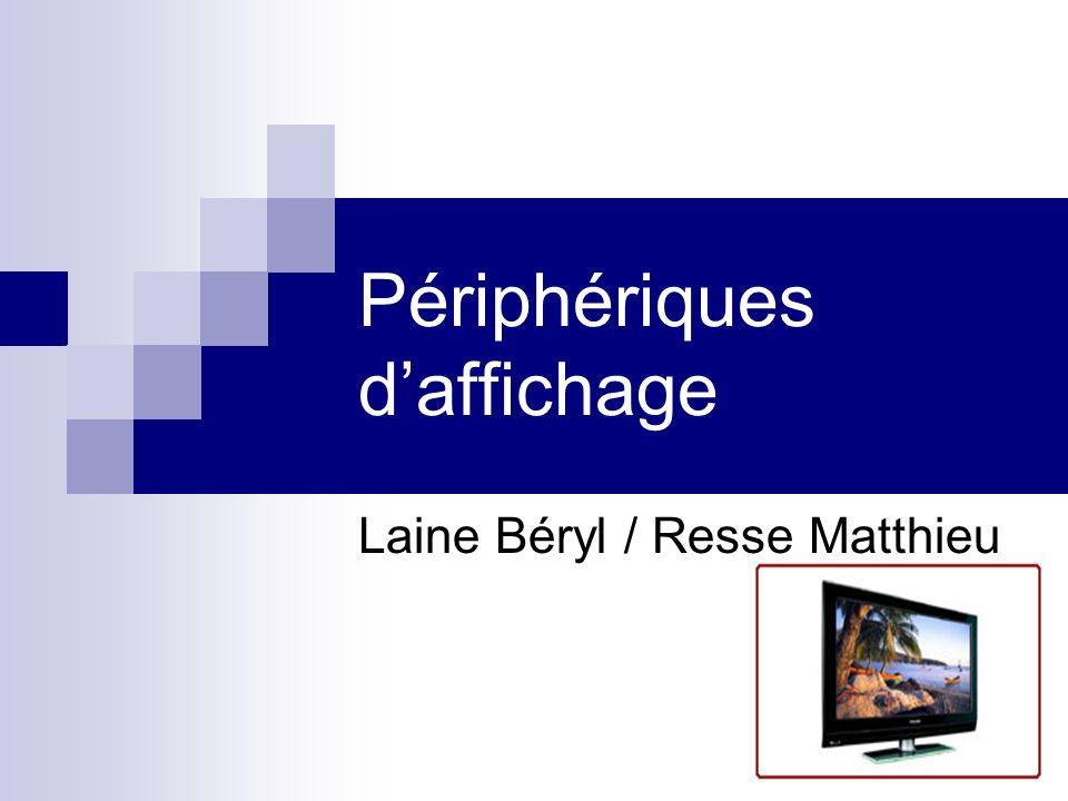 Périphériques daffichage Laine Béryl / Resse Matthieu