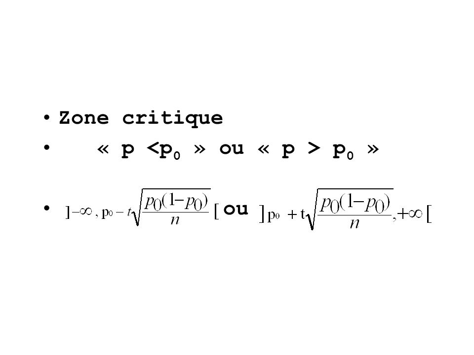Zone critique « p p 0 » ou