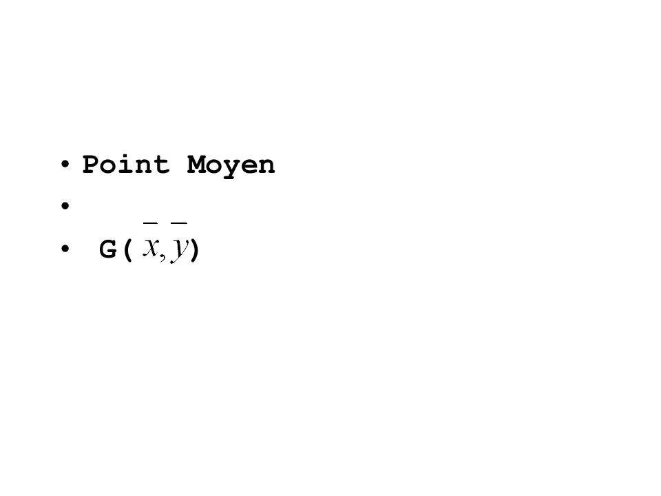 Point Moyen G( )