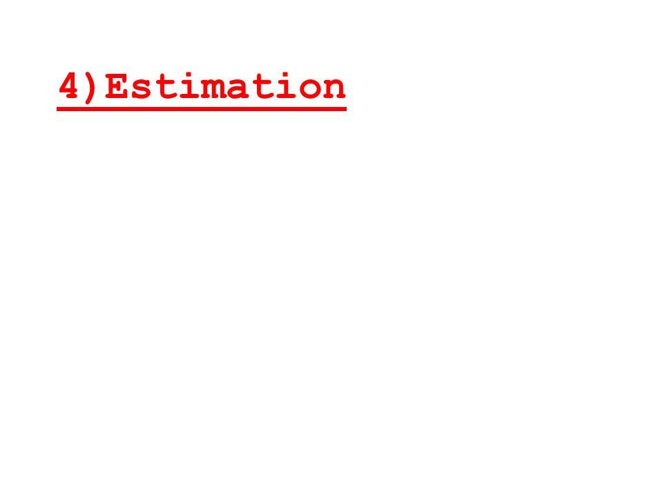 a)Estimation ponctuelle Une estimation ponctuelle de m ( moyenne inconnue dans la population )