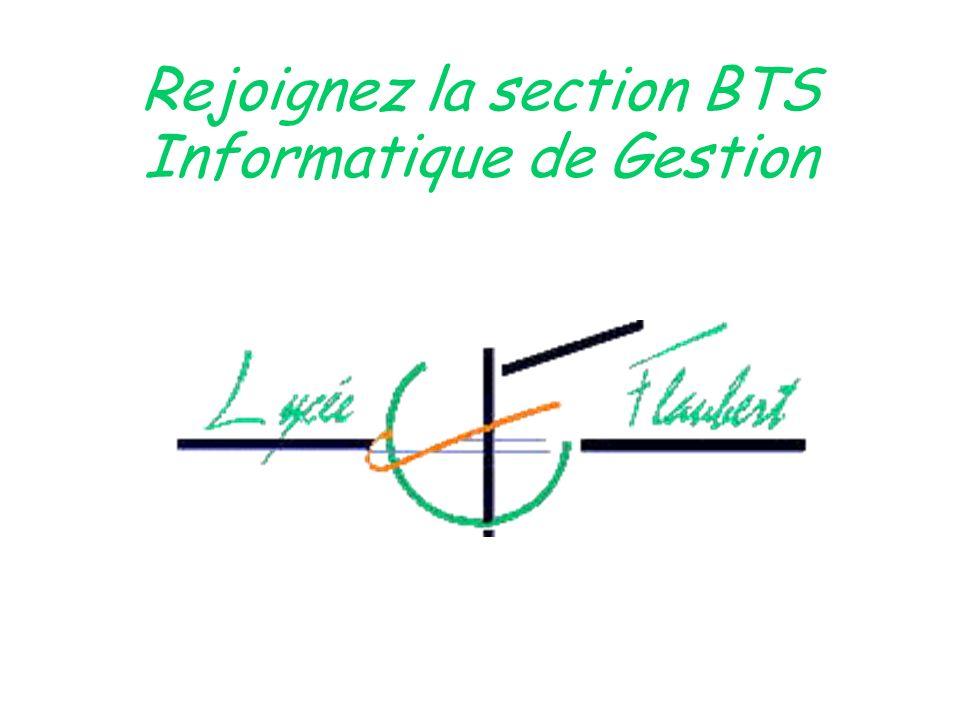 Rejoignez la section BTS Informatique de Gestion