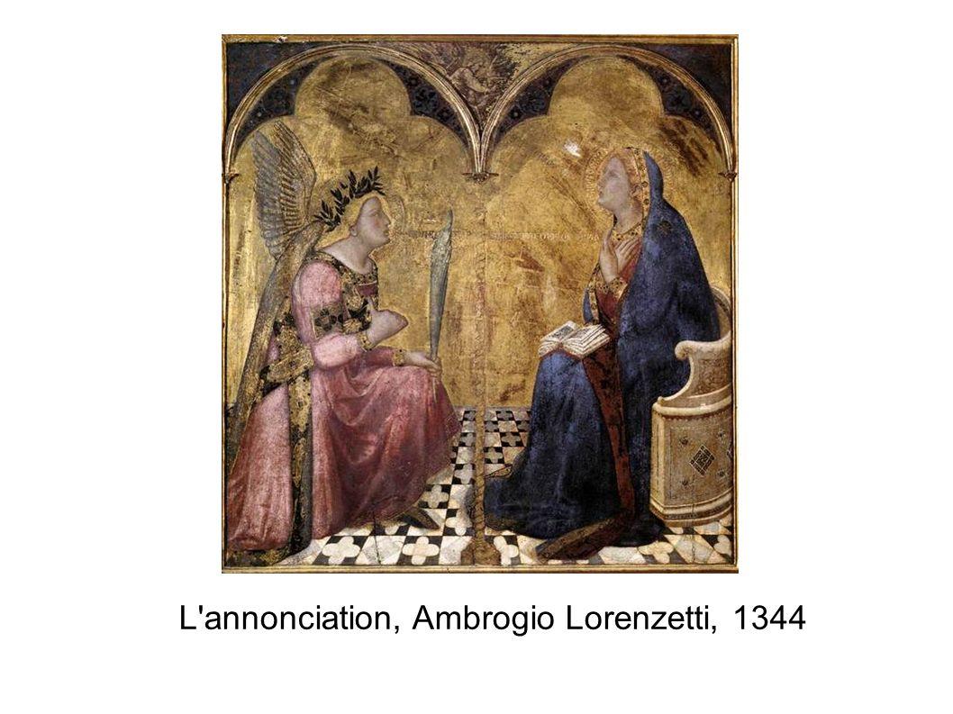 L'annonciation, Ambrogio Lorenzetti, 1344