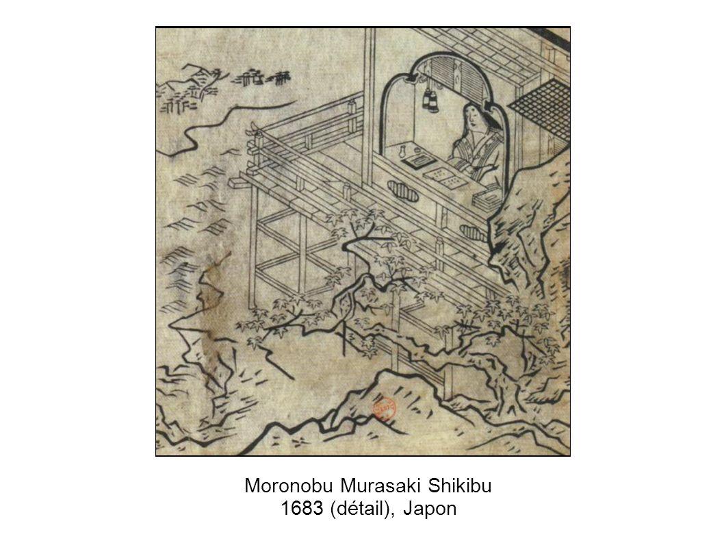 Moronobu Murasaki Shikibu 1683 (détail), Japon