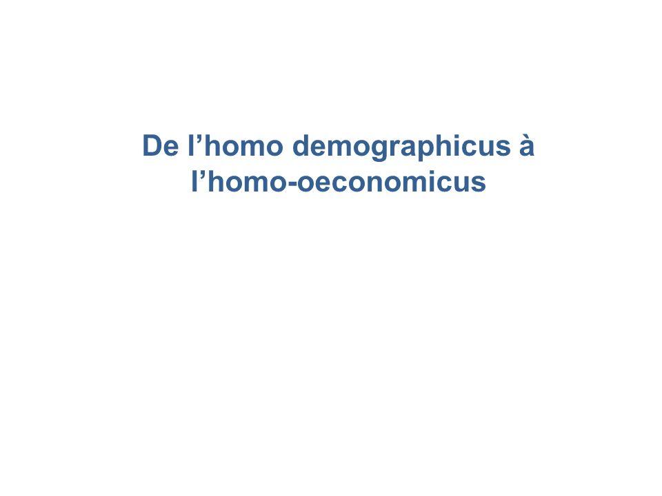 De lhomo demographicus à lhomo-oeconomicus
