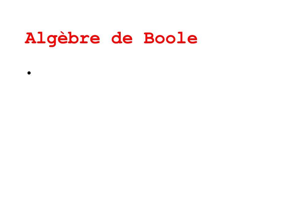 Algèbre de Boole