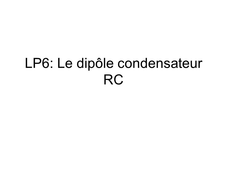 Le condensateur en convention récepteur A B Isolant Armatures métalliques u AB i En convention récepteur,le courant i est fléché en sens opposé de la tension