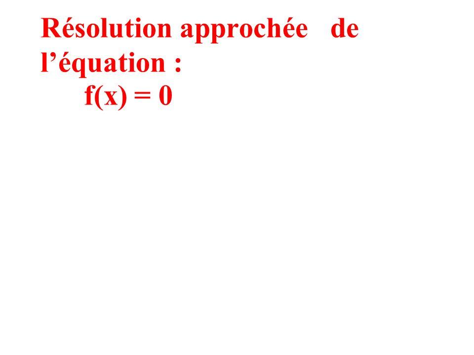 1) Conditions si f strictement croissante sur [a, b] ou f strictement décroissante sur [a, b] ( cest à dire si f a un signe fixe sur [a, b] ) et si f(a) f(b) < 0 Si f est dérivable sur [a, b] et alors léquation f(x) = 0 admet une seule solution sur [a, b]