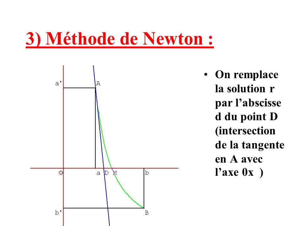 ou par labscisse e du point E (intersection de la tangente en B avec laxe 0x )