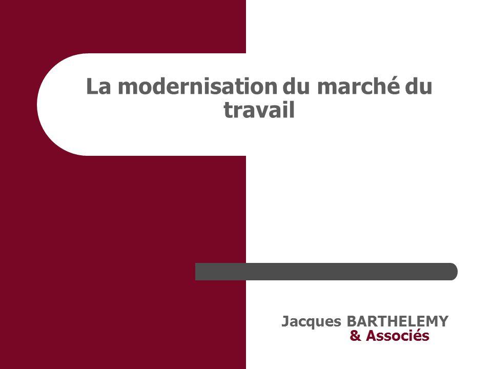 Jacques BARTHELEMY & Associés 4. La rupture du contrat de travail