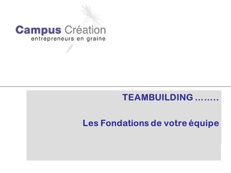 TEAMBUILDING …….. Les Fondations de votre équipe