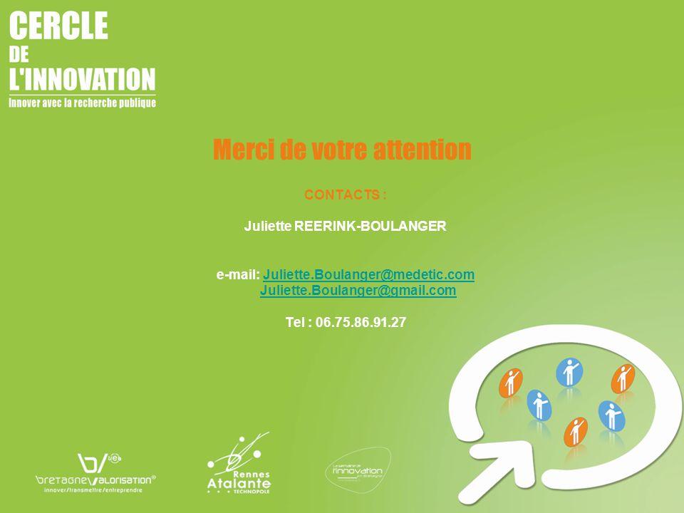 CONTACTS : Juliette REERINK-BOULANGER e-mail: Juliette.Boulanger@medetic.comJuliette.Boulanger@medetic.com Juliette.Boulanger@gmail.com Tel : 06.75.86