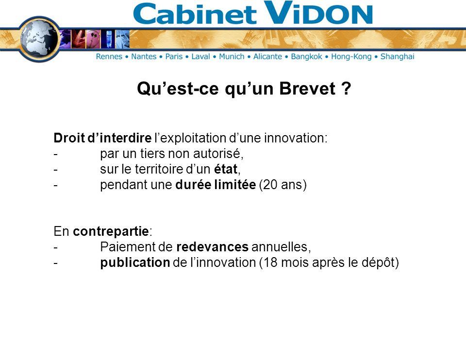Quelques chiffres … Répartition des Demandes de Brevets Français publiées en 2007