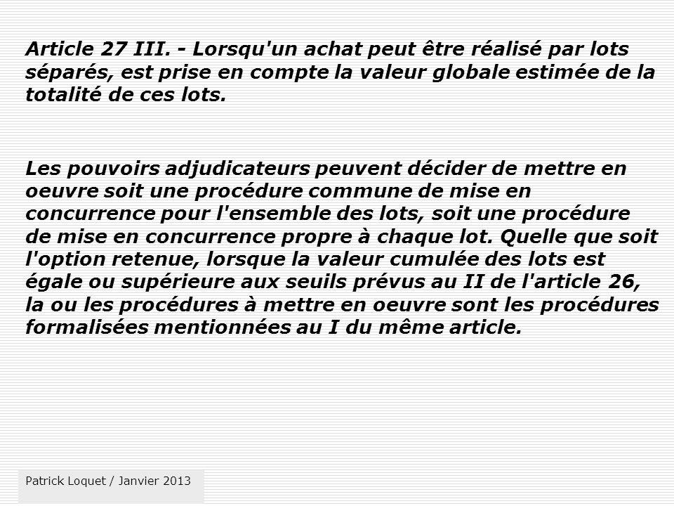 Article 27 III.