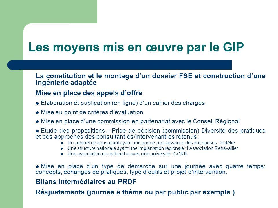 Les moyens mis en œuvre par le GIP La constitution et le montage dun dossier FSE et construction dune ingénierie adaptée Mise en place des appels doff