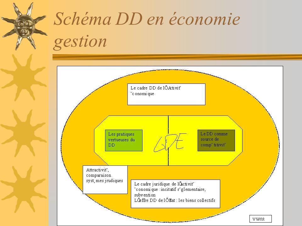 Schéma DD en économie gestion