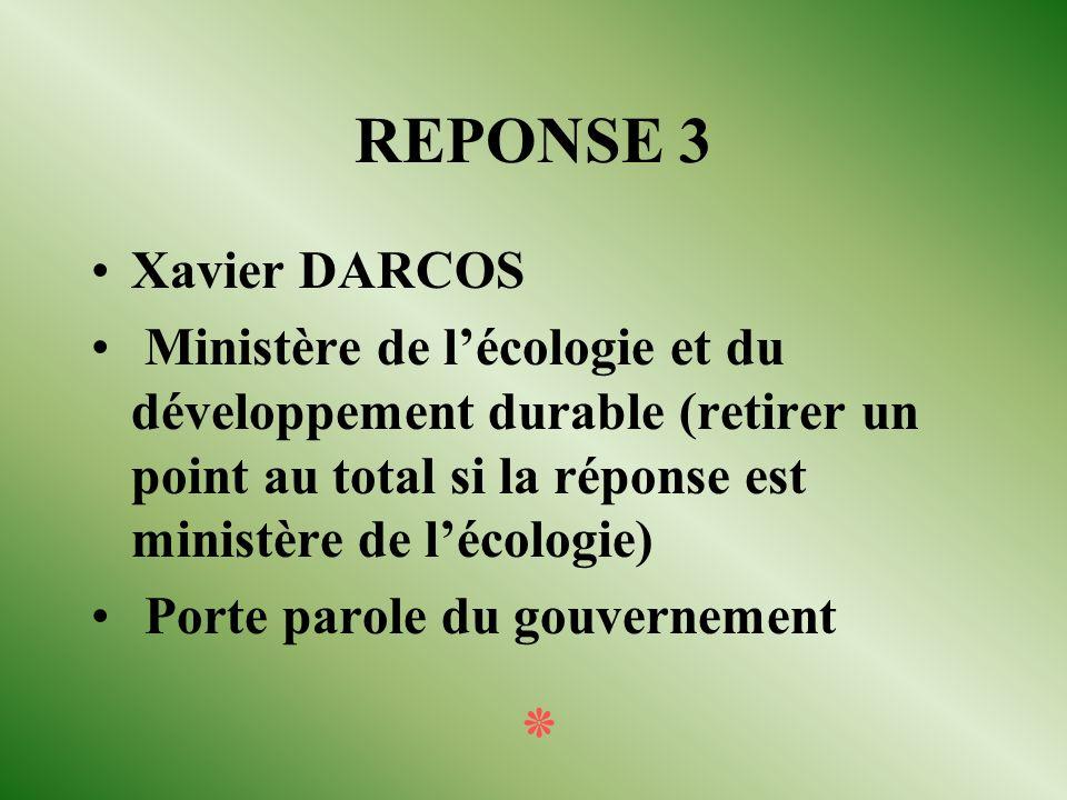QUESTION 3 Dans le gouvernement de Jean Pierre RAFFARIN : Quel est lactuel ministre délégué à lenseignement scolaire ? Quel est le nom précis du minis