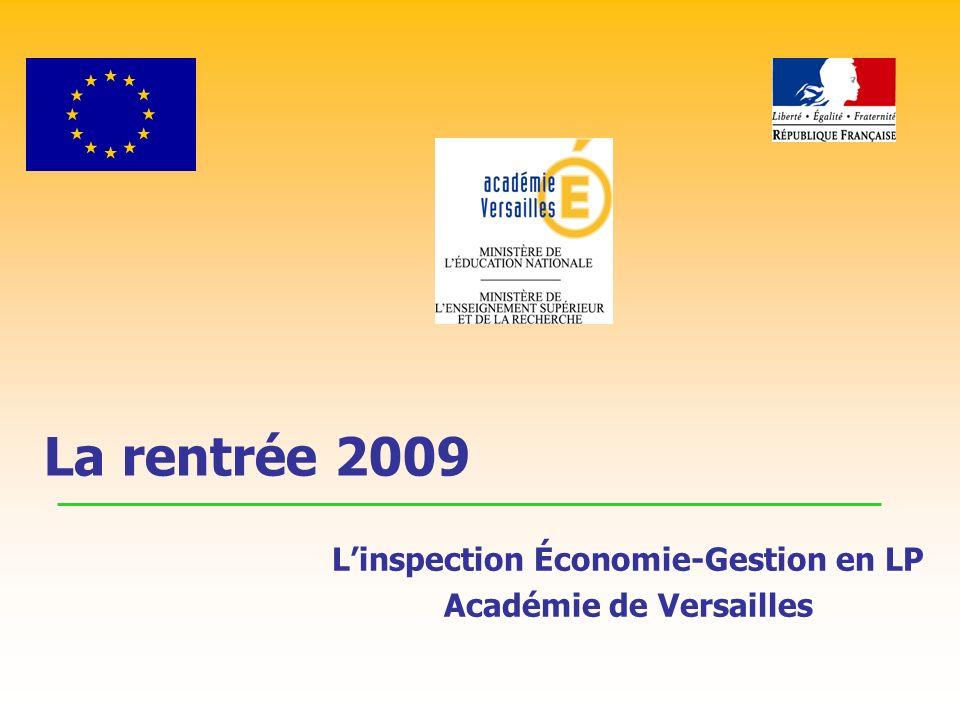 La rentrée 2009 Linspection Économie-Gestion en LP Académie de Versailles