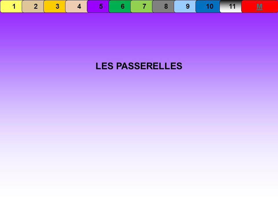 LES PASSERELLES 1234567891011M
