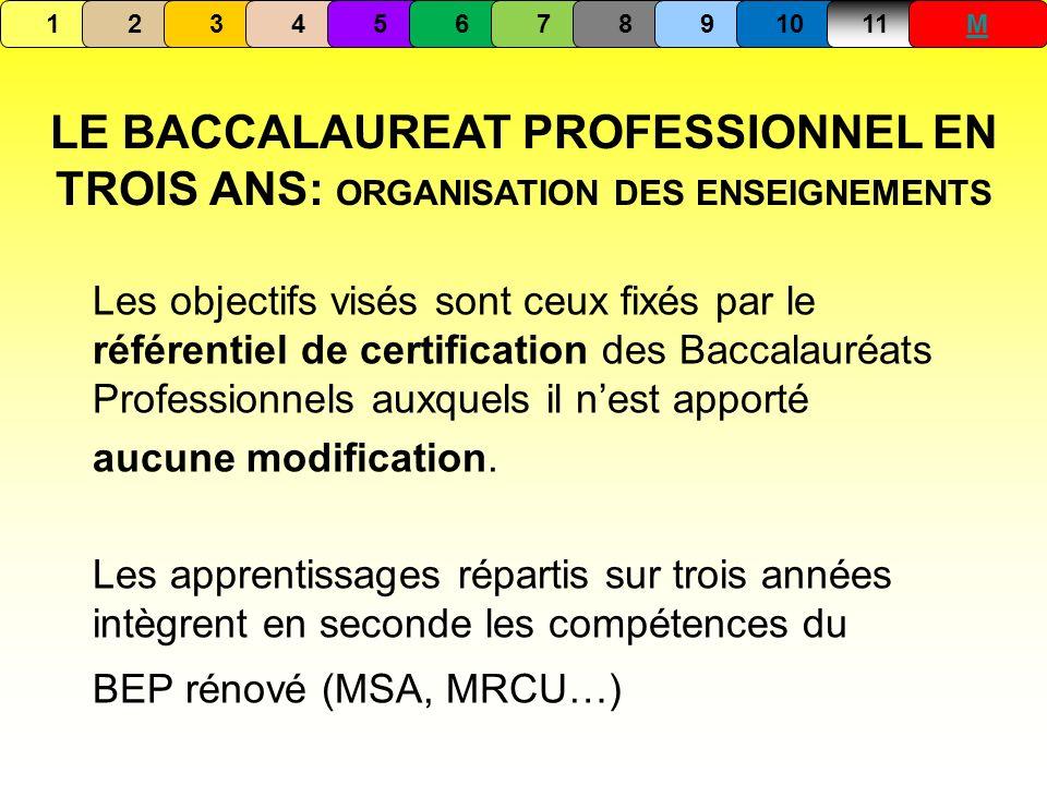 Les objectifs visés sont ceux fixés par le référentiel de certification des Baccalauréats Professionnels auxquels il nest apporté aucune modification.