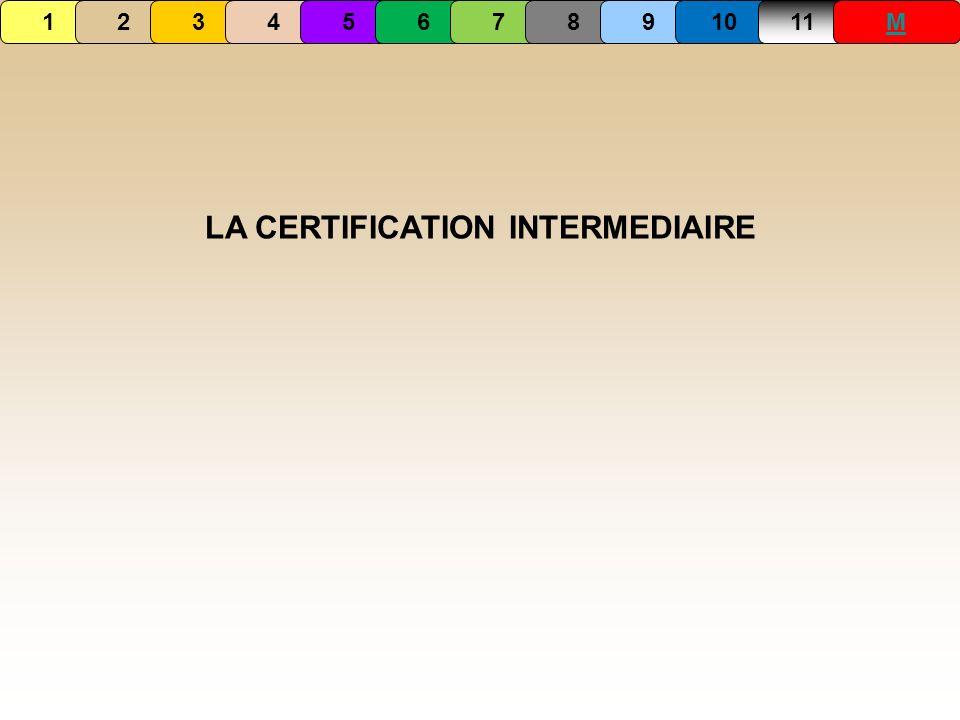 LA CERTIFICATION INTERMEDIAIRE 1234567891011M