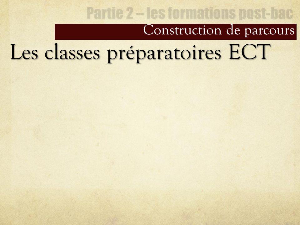 Construction de parcours Les classes préparatoires ECT