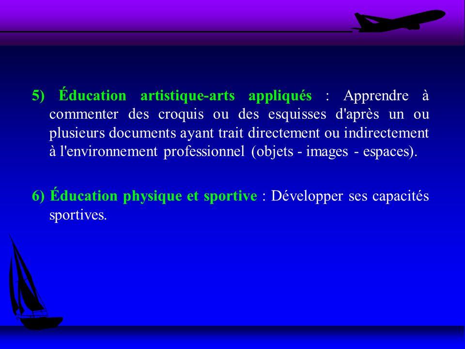5) Éducation artistique-arts appliqués : Apprendre à commenter des croquis ou des esquisses d'après un ou plusieurs documents ayant trait directement