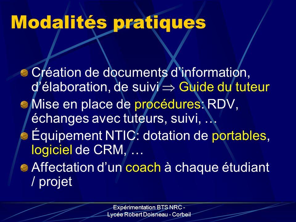 Expérimentation BTS NRC - Lycée Robert Doisneau - Corbeil A chacun « notre » route …