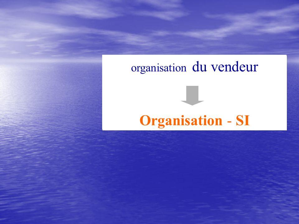 Productivité commerciale Relation Client organisation du vendeur Organisation - SI
