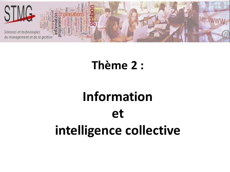 Thème 2 : Information et intelligence collective